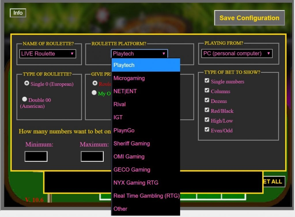 Software roulette live online roulette in india