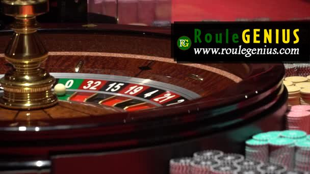 stock video casino wheel roulette