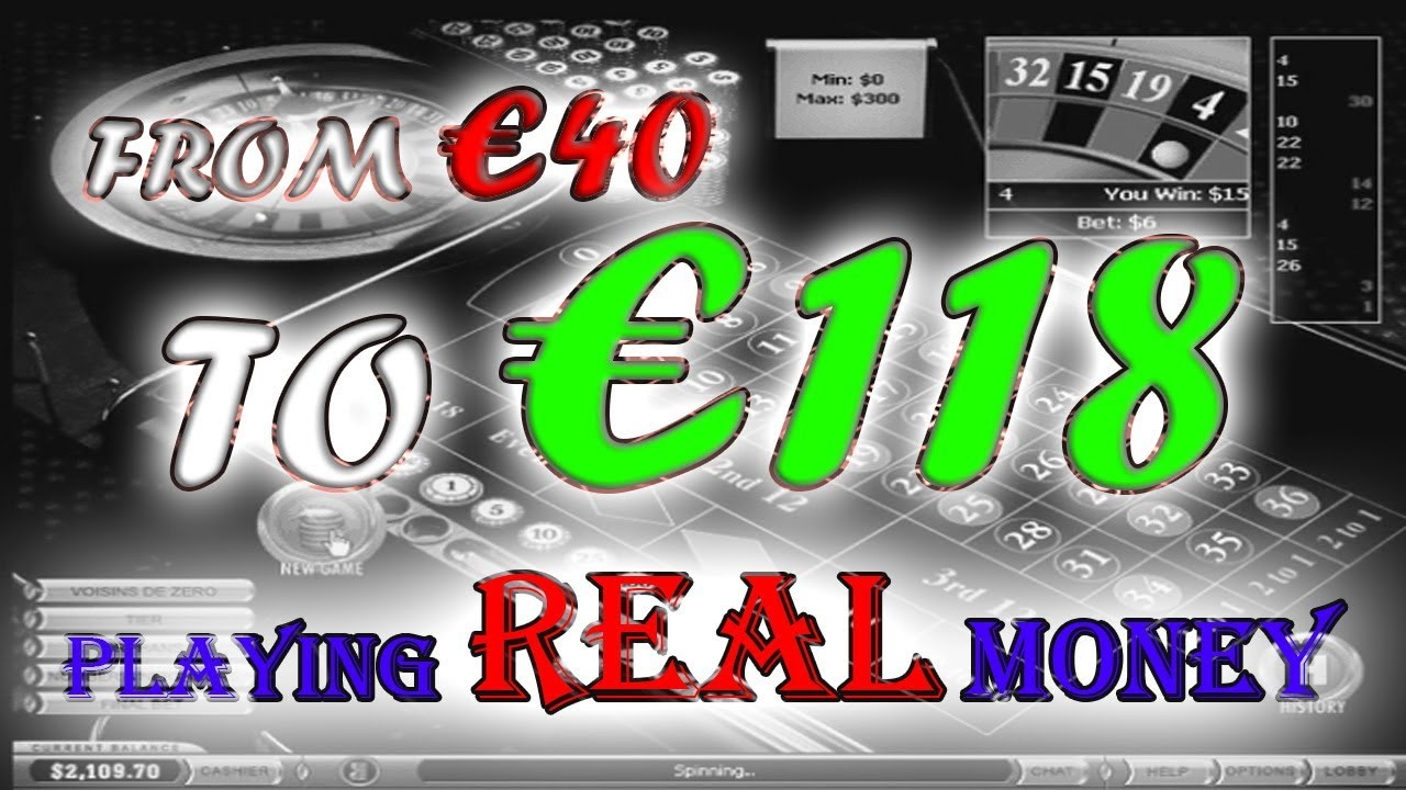 05 - Win at Roulette €118 Real MONEY